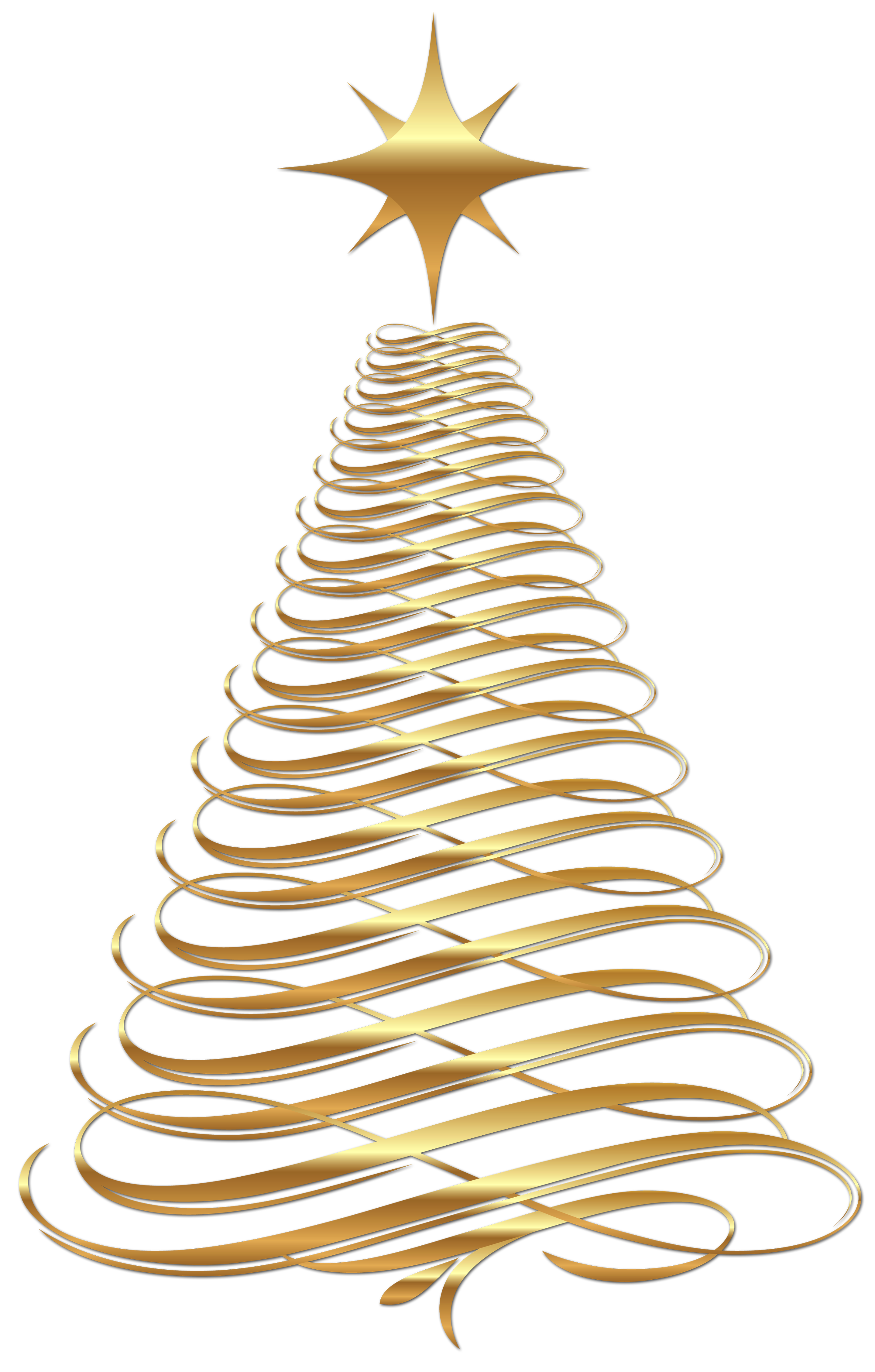 Christmas icons clipart png download Large Transparent Christmas Gold Tree Clipart | Gallery ... png download