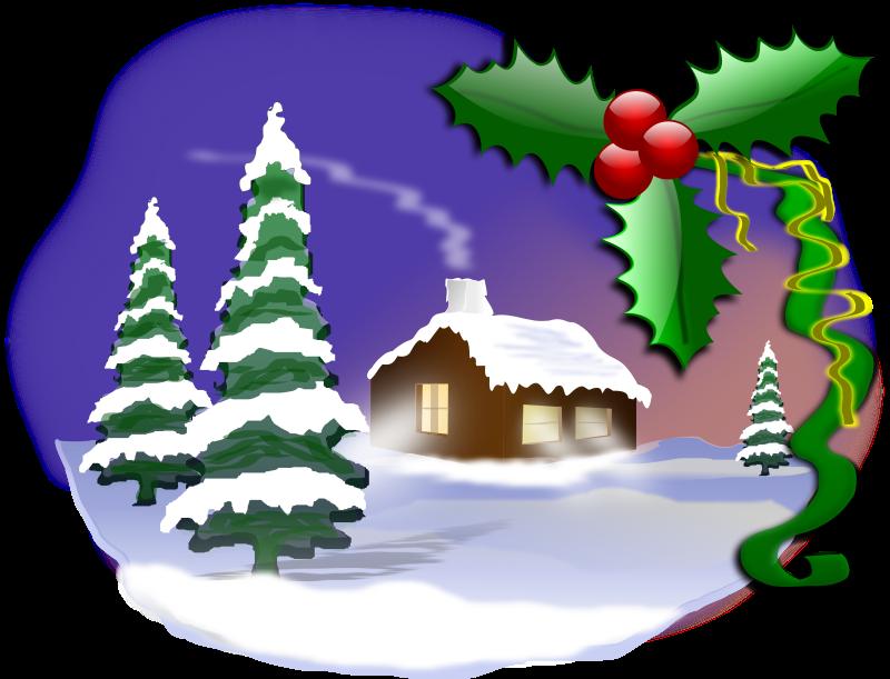 Christmas scene clipart banner free stock Christmas Scene Free Clipart banner free stock