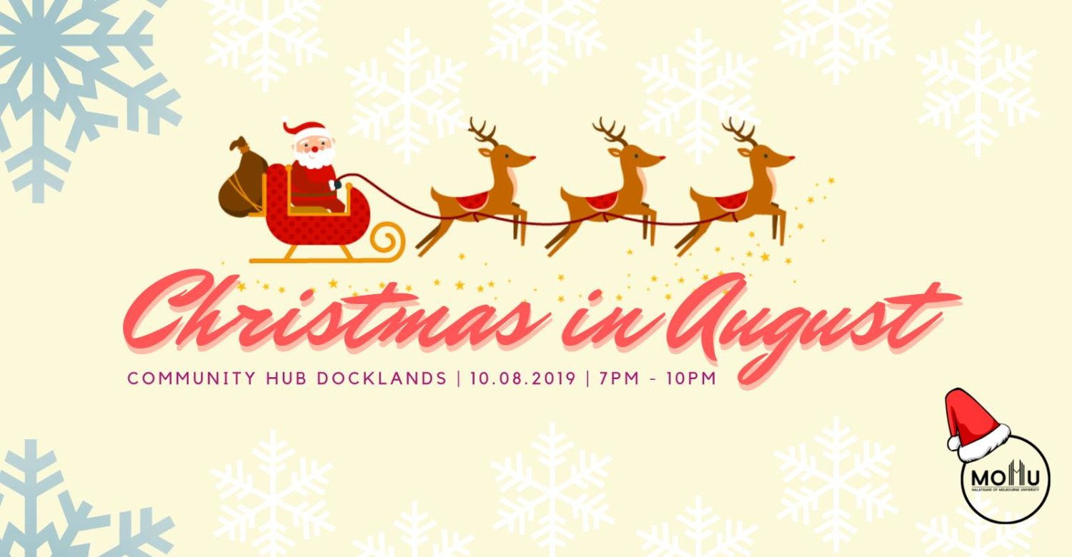 Christmas in august clipart banner transparent library Events — Malaysians of Melbourne University banner transparent library