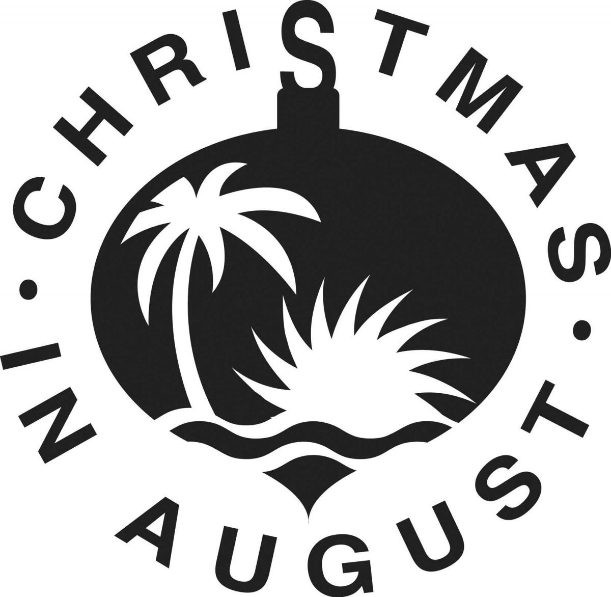 Christmas in august clipart clip art royalty free download Christmas In August Logo BW Clip Art | Trenmay.com clip art royalty free download