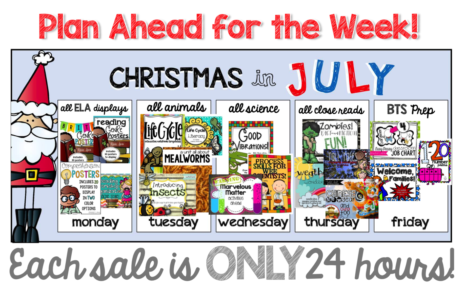 Christmas in july clipart banner free stock Christmas In July! Day 1: All Things ELA! - the tattooed teacher banner free stock
