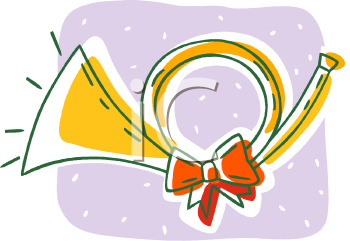 Christmas instruments clipart clipart library download Clipart Picture Of A Christmas Horn clipart library download