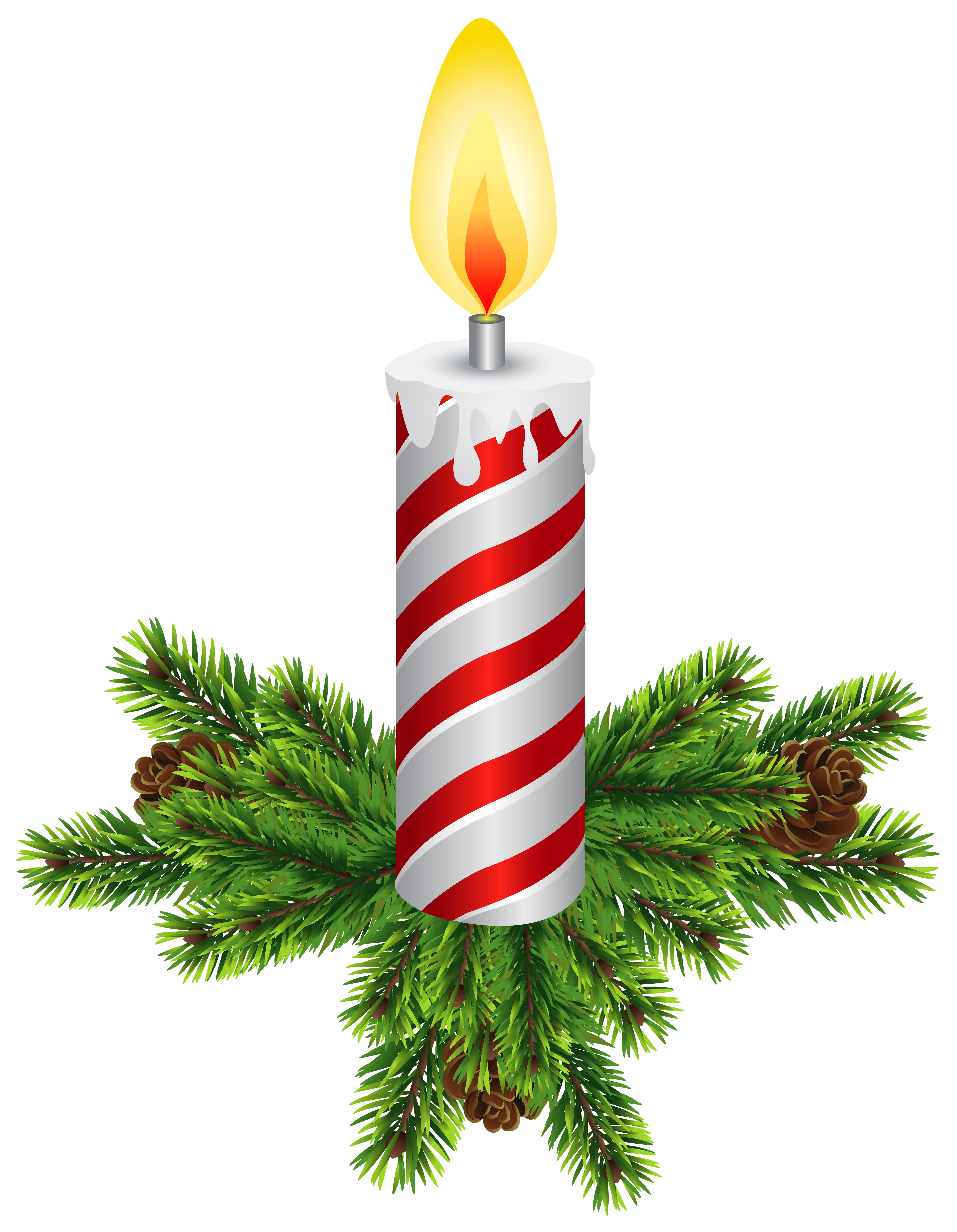 Christmas ivy clipart clip stock Christmas Candles Transparent PNG Clip Art | Gallery Yopriceville ... clip stock