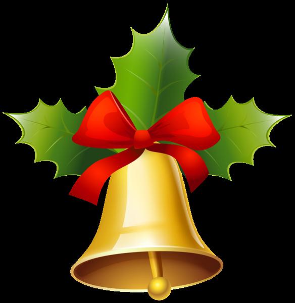 Christmas jingle bell clipart jpg freeuse stock Golden Christmas Bell PNG Clipart Image | - Borders, Frames ... jpg freeuse stock