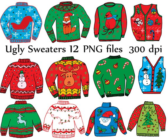Christmas jumper clipart svg freeuse Ugly Sweater ClipArt: \
