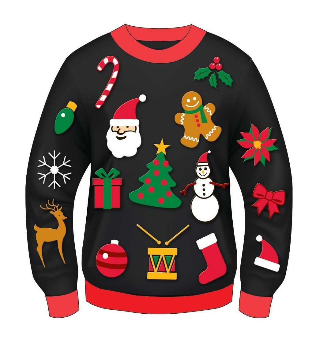 Tacky christmas costumes clipart image black and white stock Christmas jumper clipart 7 » Clipart Station image black and white stock