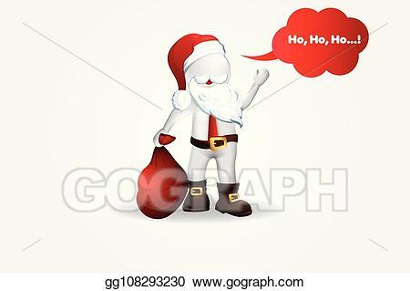 Christmas kickboxing clipart png freeuse stock Vector Stock - Christmas santa claus -3d small people. Stock Clip ... png freeuse stock