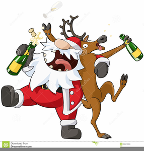 Christmas kickboxing clipart clipart transparent Drunk Christmas Cartoon   Free Images at Clker.com - vector clip art ... clipart transparent