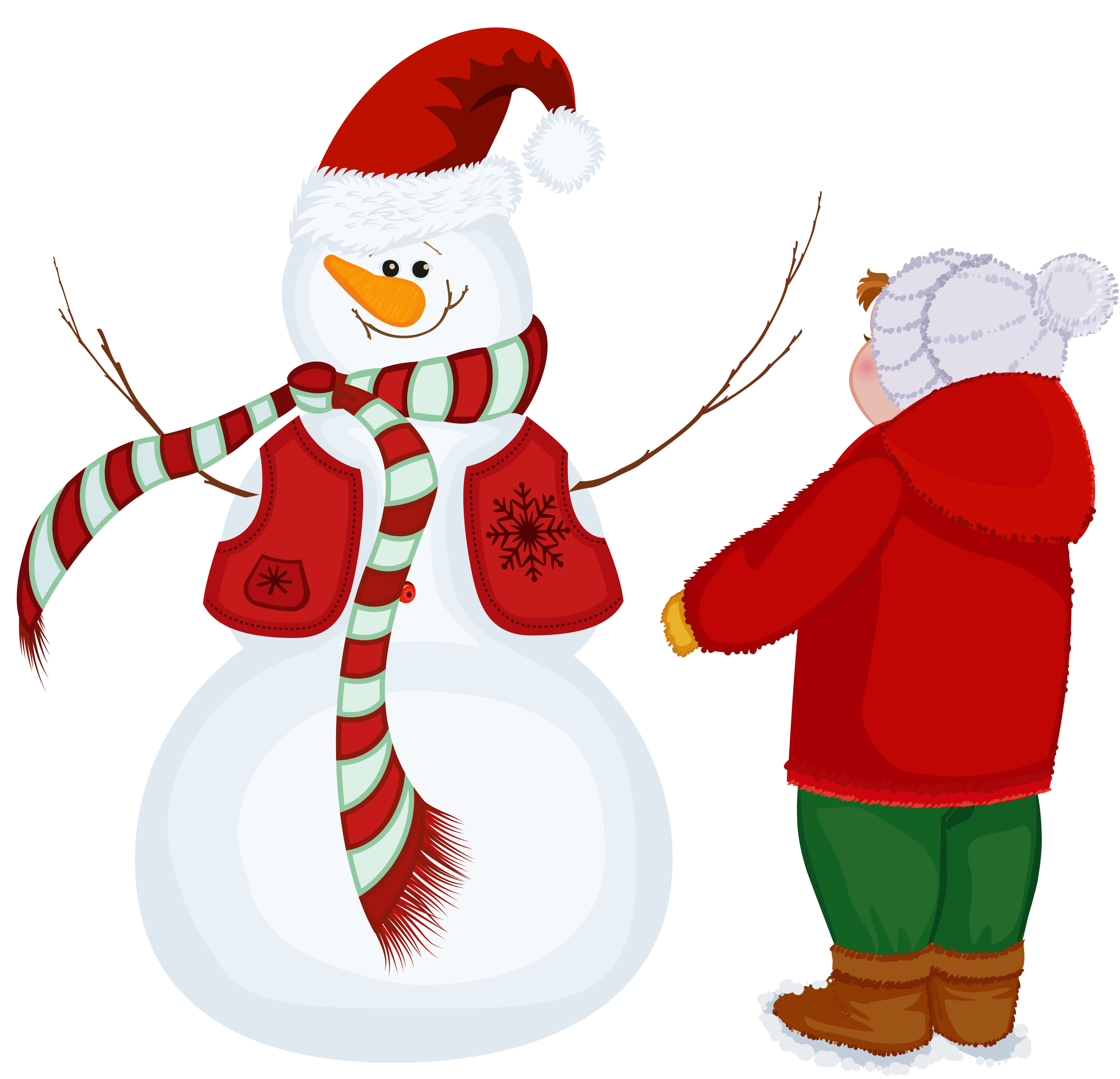 Snowman heart clipart clip library Transparent Snowman and Kid PNG Clipart | Gallery Yopriceville ... clip library