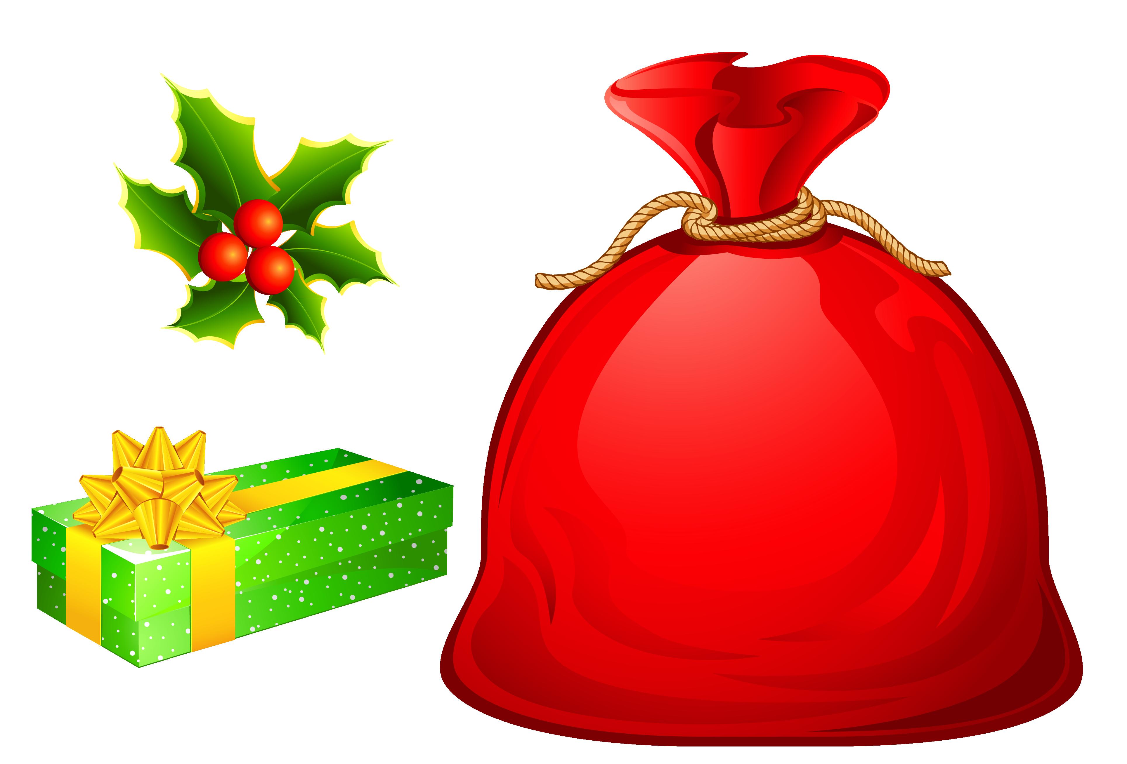 Christmas kiss clipart png free download Santa Claus Bag Christmas Clip art - Christmas Bags Cliparts 3858 ... png free download