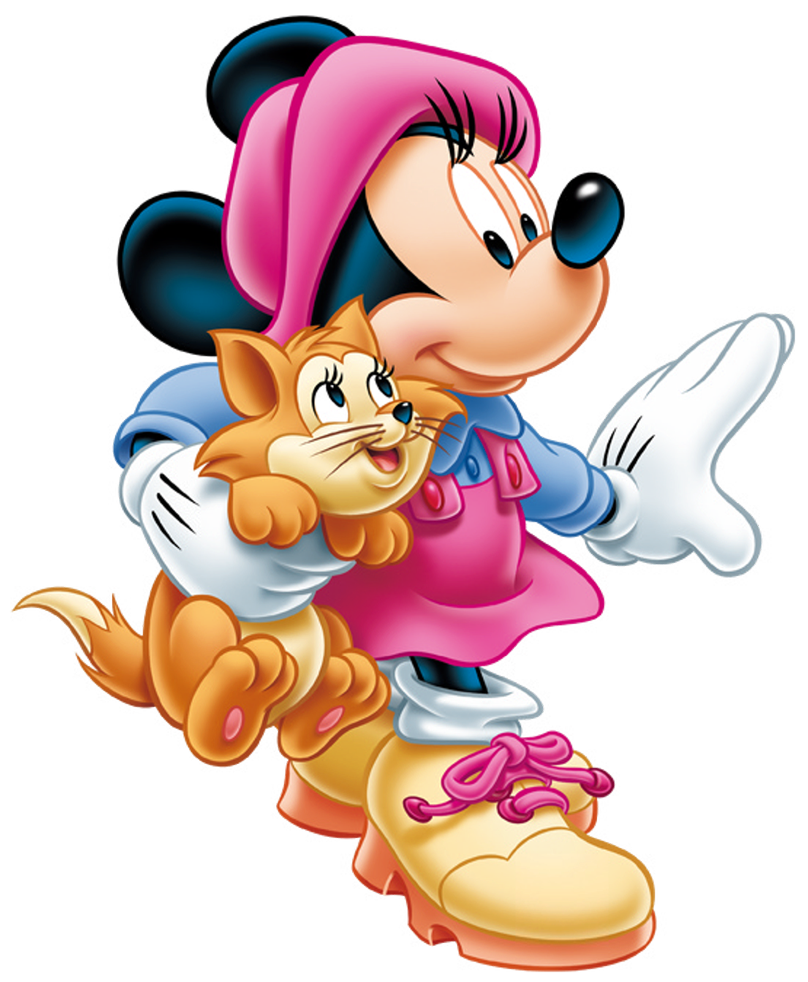 Halloween minnie mouse clipart graphic Minnie Mouse with Kitten PNG Clip-Art Image | Gallery Yopriceville ... graphic