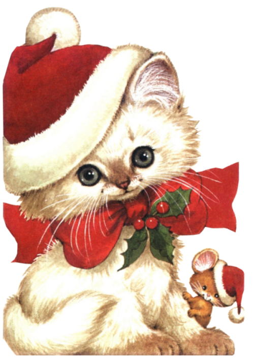 Dog and cat christmas clipart svg freeuse stock CHRISTMAS KITTEN AND MOUSE | CLIP ART - CHRISTMAS 2 - CLIPART ... svg freeuse stock