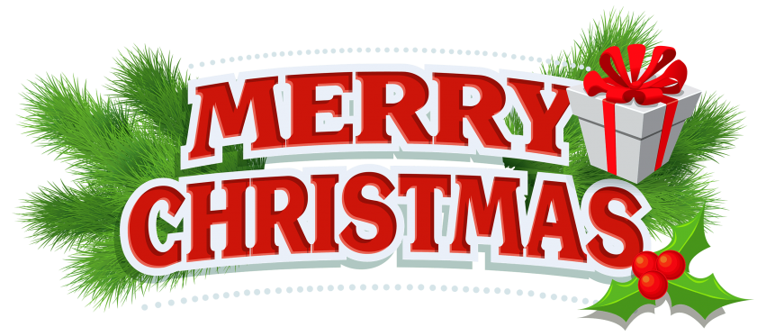 Christmas label clipart clipart black and white merry christmas decor with gift png - Free PNG Images | TOPpng clipart black and white