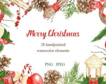 Christmas lemon clipart clip art library download Lemon Watercolor Clipart. 35 Watercolor Elements(lemon fruit ... clip art library download