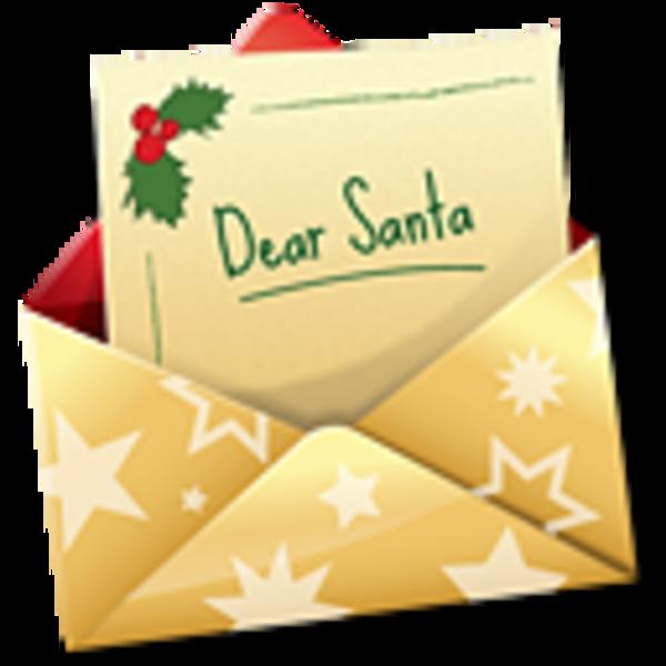Christmas letter clipart