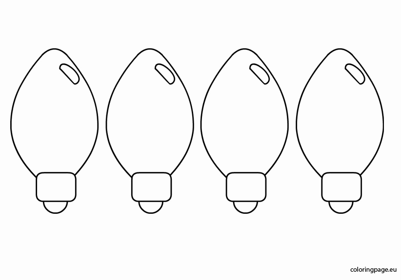 Christmas light bulb black and white clipart picture freeuse library Christmas Light Template Printable or Christmas Light Bulb Clipart ... picture freeuse library