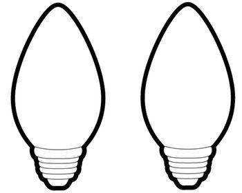 Christmas light bulb black and white clipart vector freeuse Christmas Light Bulb Outline | Clipart Panda - Free Clipart Images ... vector freeuse
