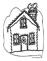 Christmas light house clipart png royalty free Christmas Lights Coloring Pages png royalty free