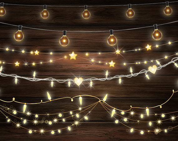 Christmas light realistic clipart image stock String Lights Clipart, Fairy lights clipart, Banners clipart, Bokeh ... image stock