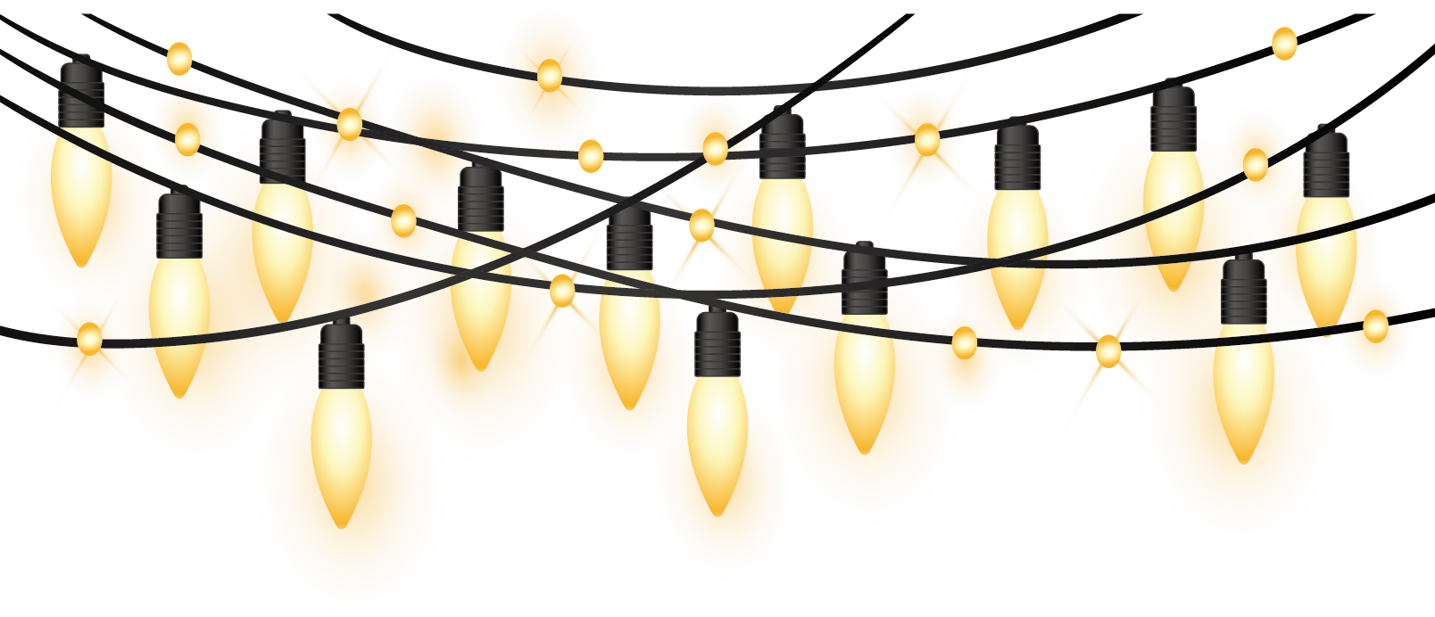 Christmas light string clipart picture freeuse library Christmas lights Clip art - Yellow light effect decorative holiday ... picture freeuse library