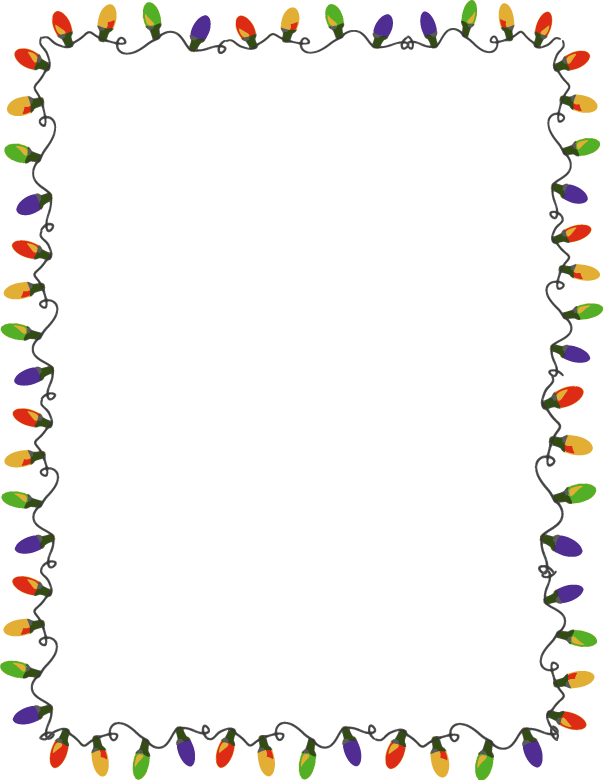 Christmas lights border clipart black and white jpg black and white download Xmas Lights Clip Arts and Borders | Fonts!!! | Christmas border ... jpg black and white download