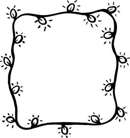 Christmas lights border clipart black and white png transparent download Christmas Lights Clipart Black And White | Free download best ... png transparent download