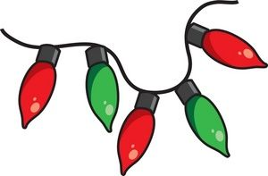 Christmas lights clip clipart art picture Free Christmas Lights Clip Art Image: Clipart Illustration of a ... picture