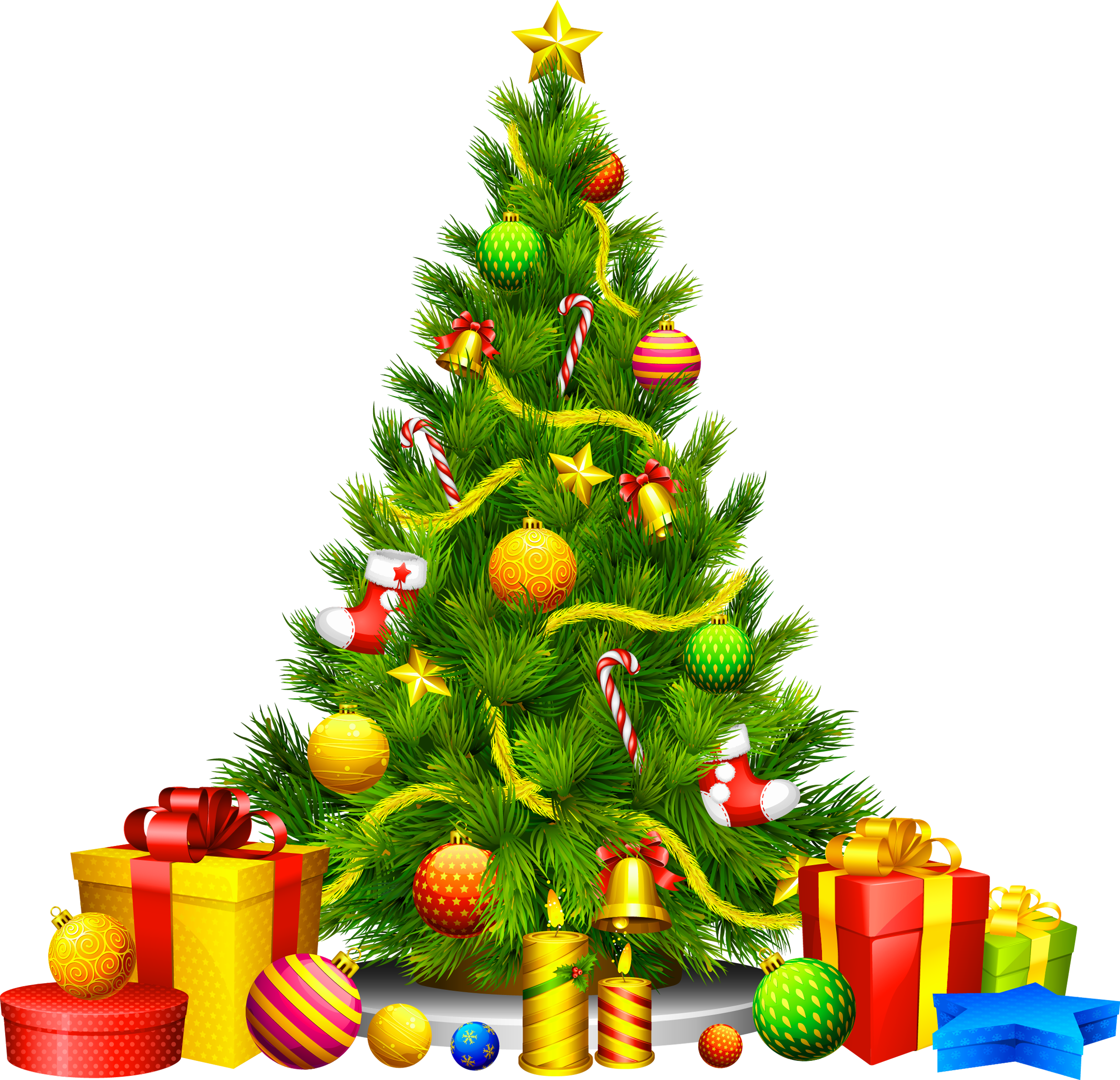 Clipart christmas tree with presents clip stock Large Transparent Christmas Tree with Presents Clipart | Gallery ... clip stock