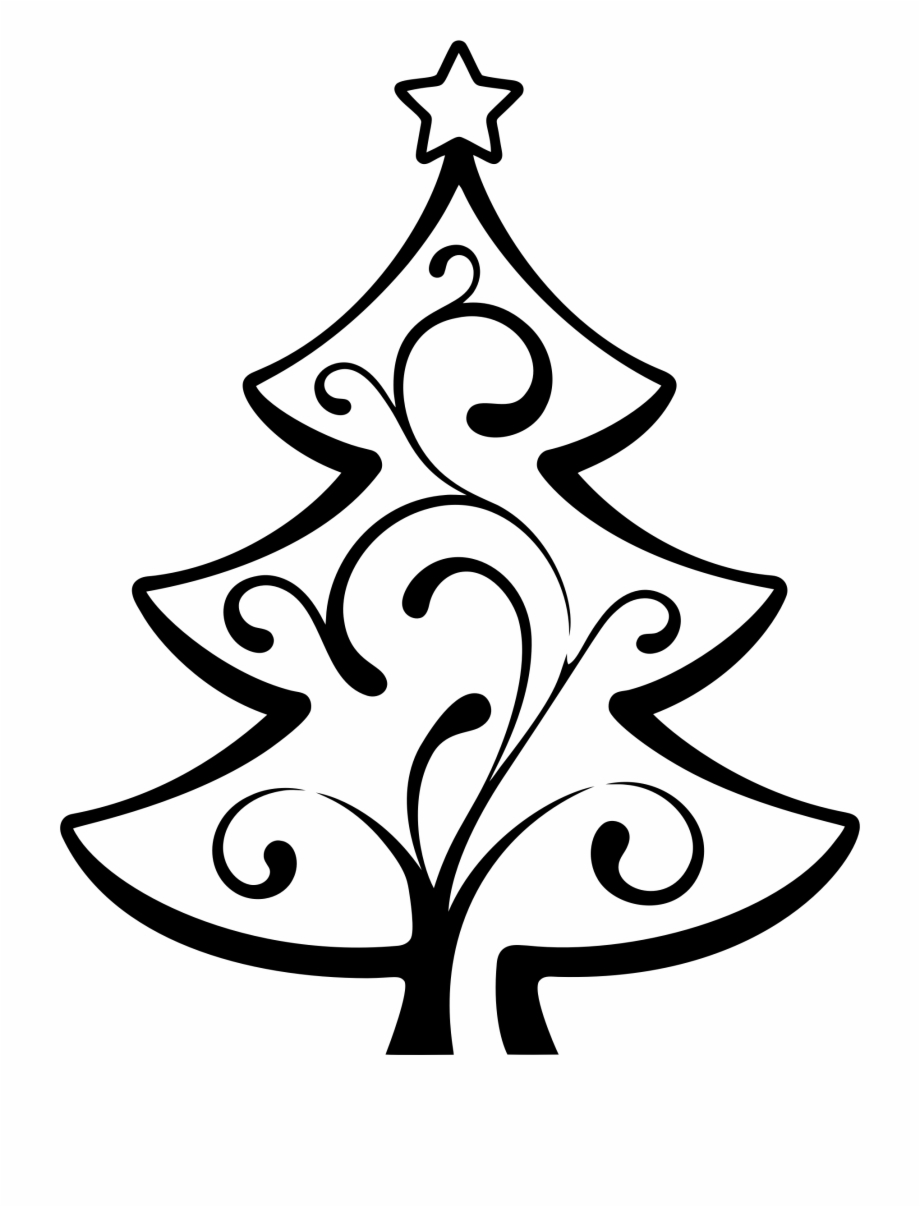 Christmas line drawing clipart clipart black and white download Banner Royalty Free Download Line Drawing Desktop Backgrounds - Big ... clipart black and white download
