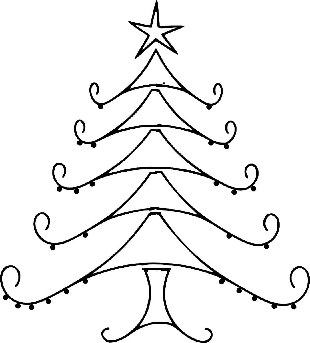 Christmas line drawing clipart jpg free library Free Christmas Tree Line Drawing, Download Free Clip Art, Free Clip ... jpg free library