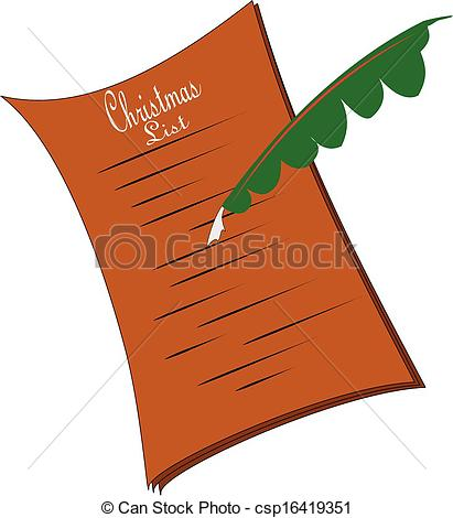 Vector and illustration ye. Christmas list clipart