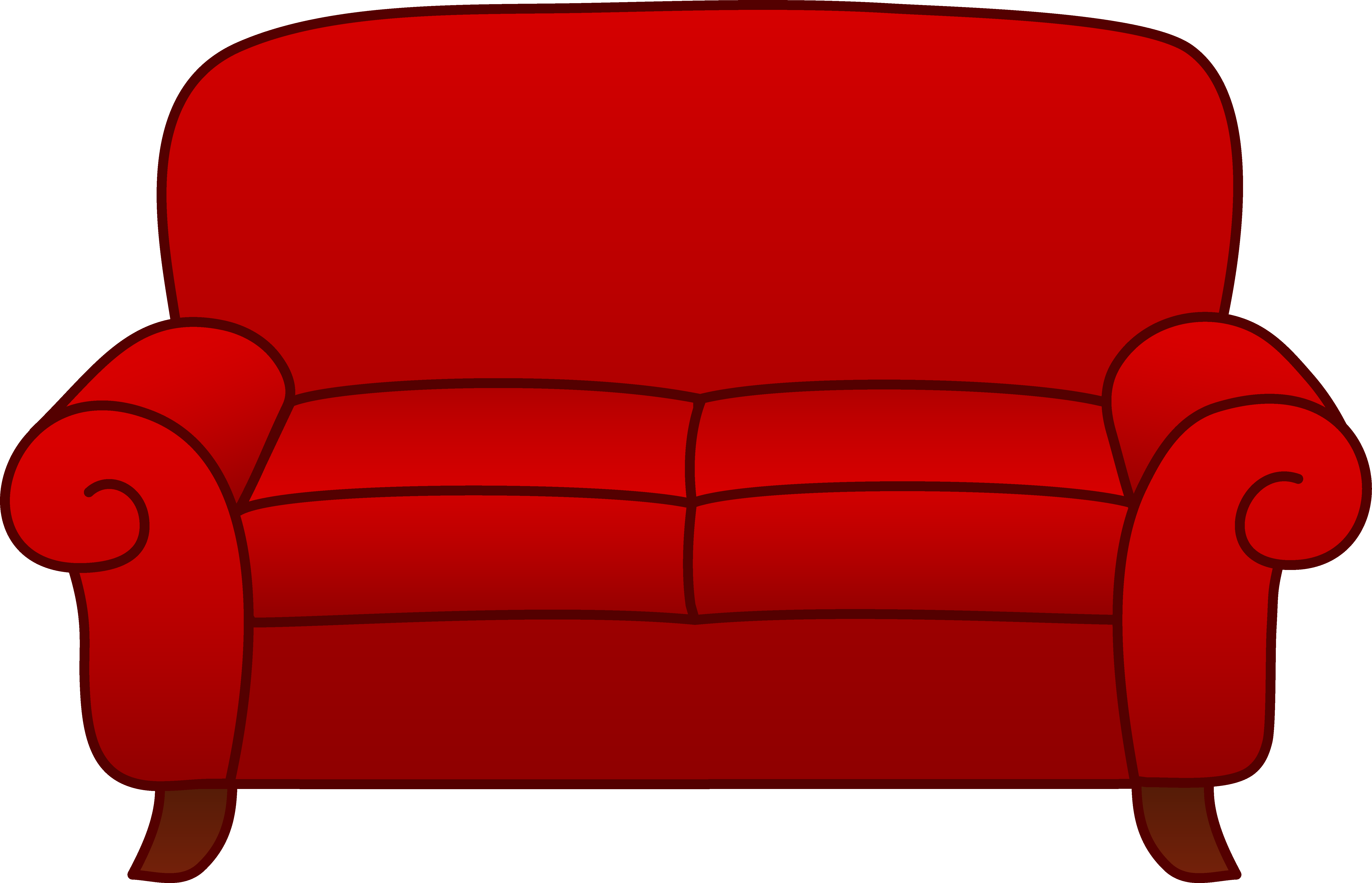 Christmas living room clipart clip art freeuse library Red Living Room Sofa - Free Clip Art clip art freeuse library