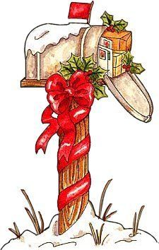 Christmas mail box clipart free download stuffed mailbox | CHRISTMAS/ WINTER II | Vintage christmas cards ... free download