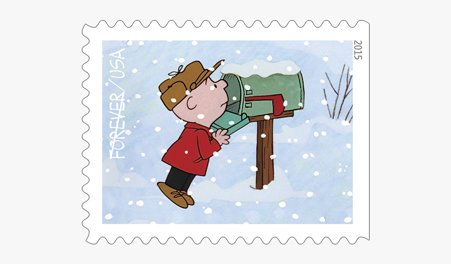 Christmas mail box clipart black and white library November Clip Art Charlie Brown - Charlie Brown Christmas Mailbox ... black and white library