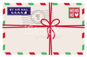 Christmas mail clipart banner transparent stock Christmas Air Mail Letter from Santa stock vectors - Clipart.me banner transparent stock
