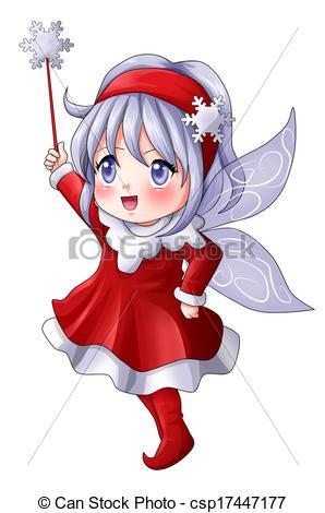 Christmas manga clipart. Stock illustrations of pixie