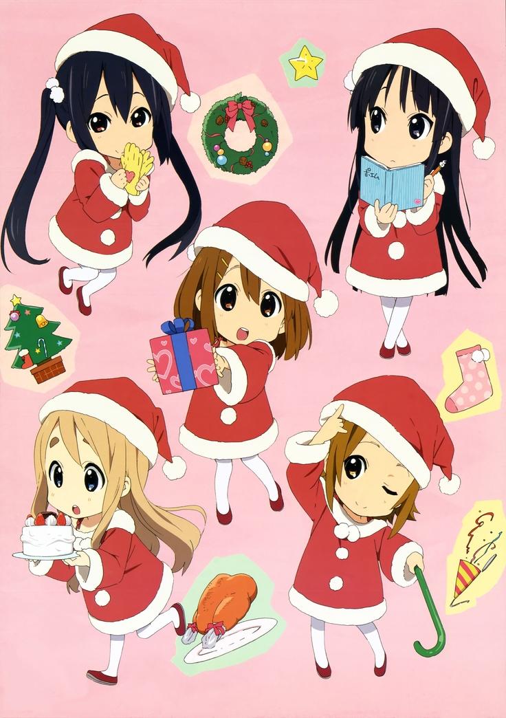 Keion chibis k on. Christmas manga clipart