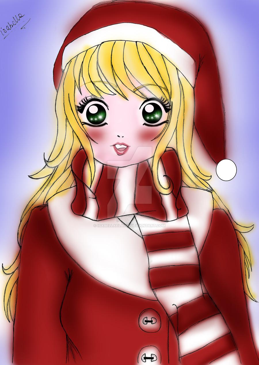 Christmas manga clipart