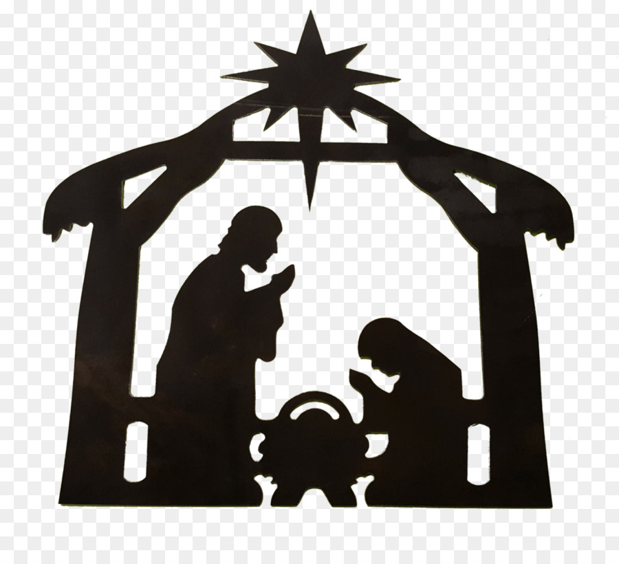 Nativity scene clipart silhouette clipart library stock Christmas Black And White clipart - Silhouette, Font, Pattern ... clipart library stock