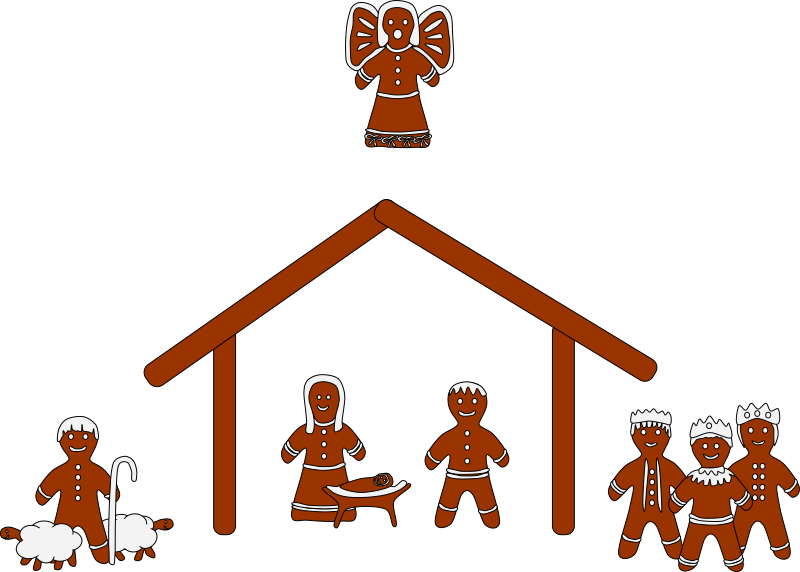 Christmas manger scene clipart clip freeuse download Clipart - Gingerbread Nativity clip freeuse download