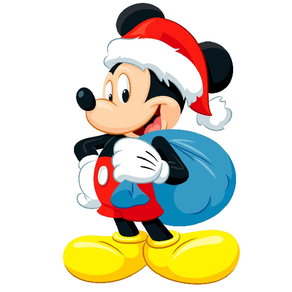 Christmas mouse clipart banner black and white Mickey Mouse Xmas Clip Art Images. Click On Image To Enlarge Then ... banner black and white