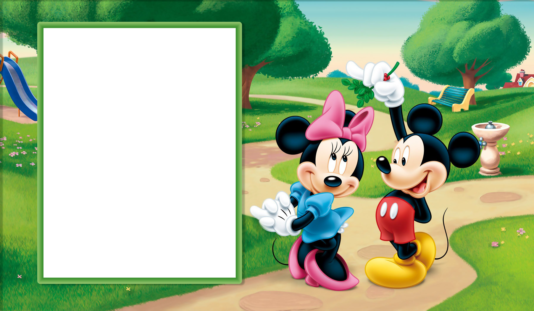 Christmas mickey clipart picture free stock Minnie and Mickey Mouse Transparent Kids Frame | Gallery ... picture free stock