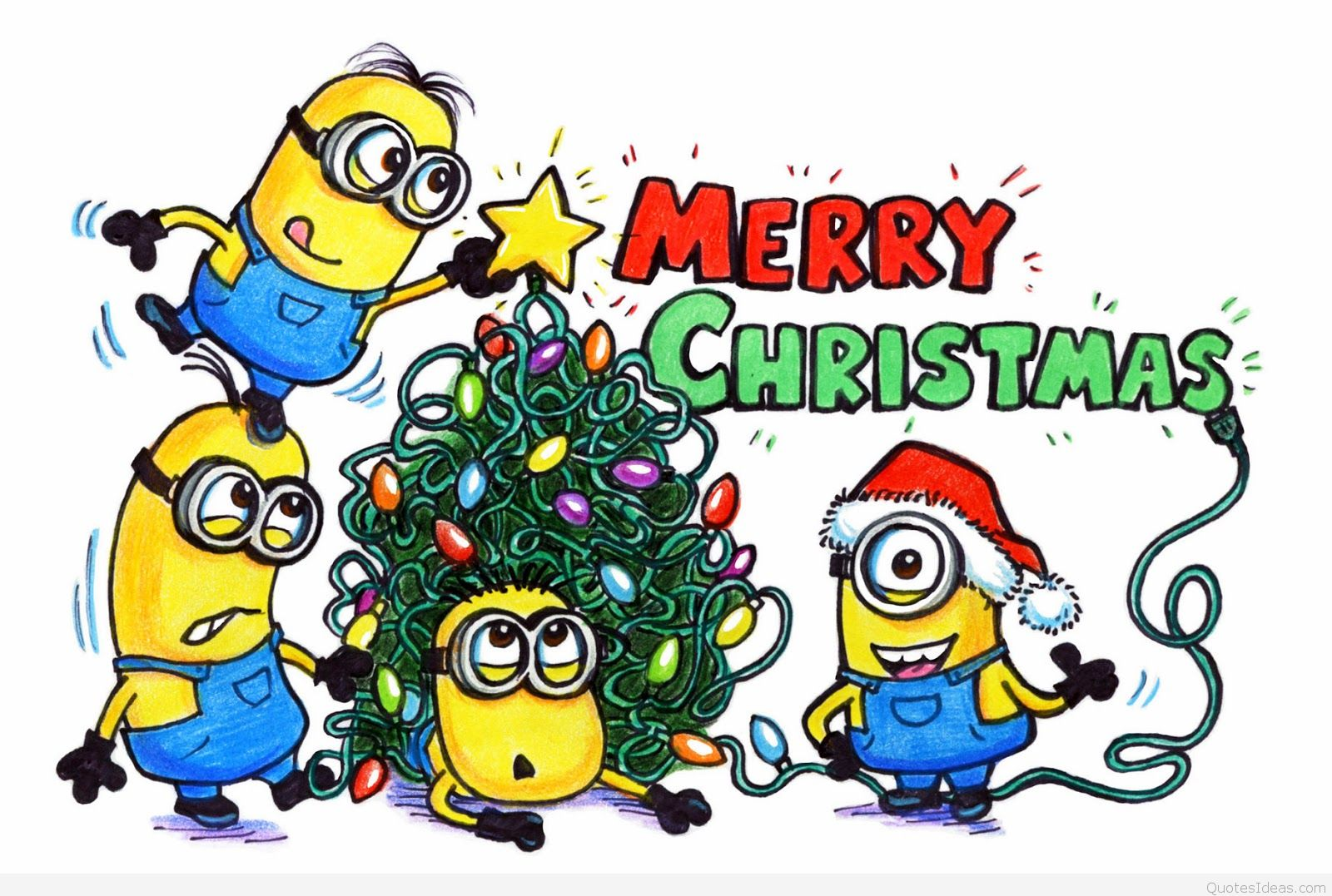 Funny merry christmas clipart image transparent library Merry christmas minions clipart collection - ClipartAndScrap image transparent library