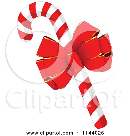 Christmas mint clipart svg royalty free download Cartoon Of Christmas Peppermint Candy Canes With Holly A Bow And ... svg royalty free download