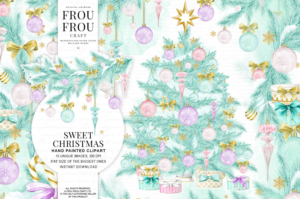 Christmas mint clipart png royalty free download Christmas clipart | Etsy png royalty free download