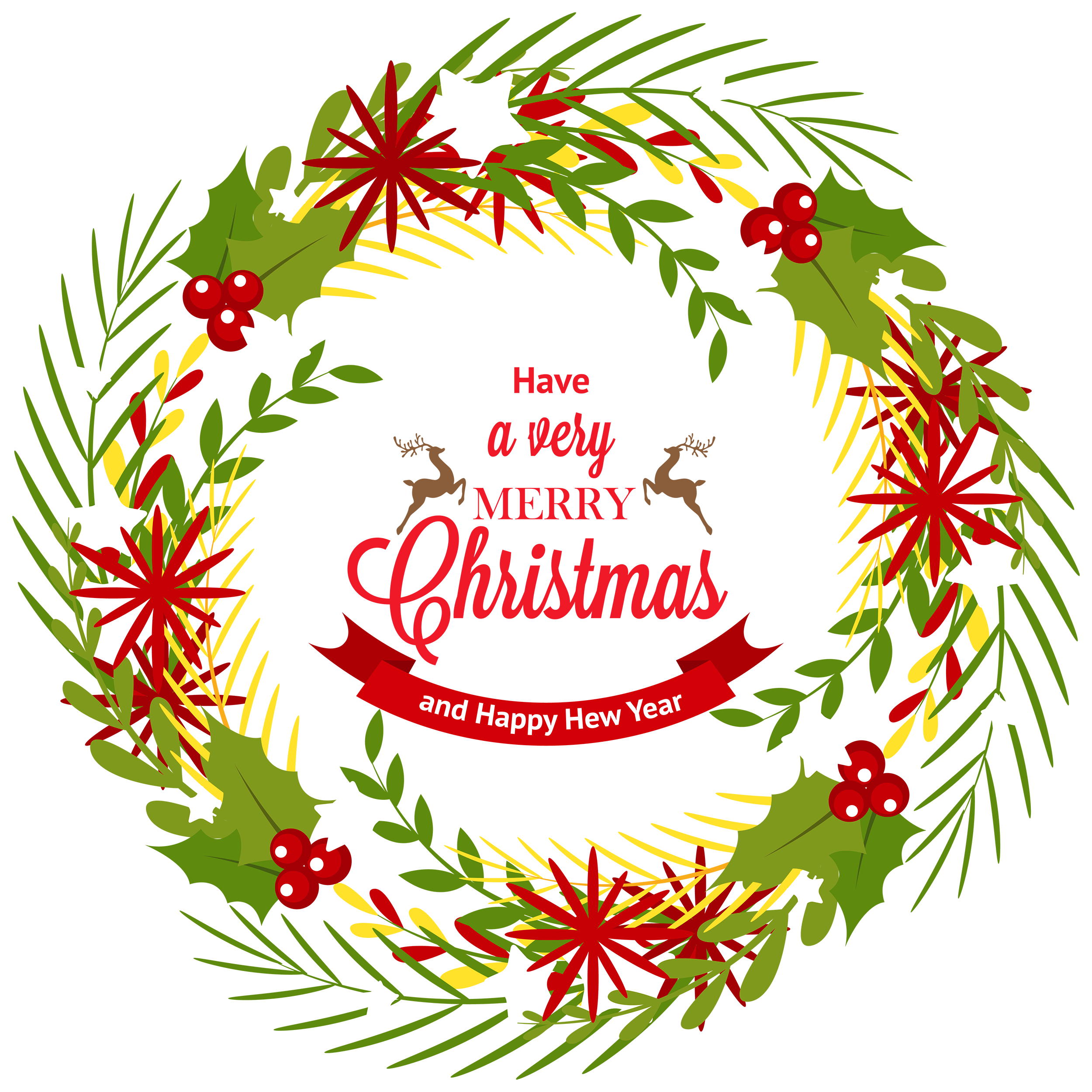 Christmas wreath clipart png svg free stock Christmas Wreath with Mistletoe PNG Clipart - Best WEB Clipart svg free stock