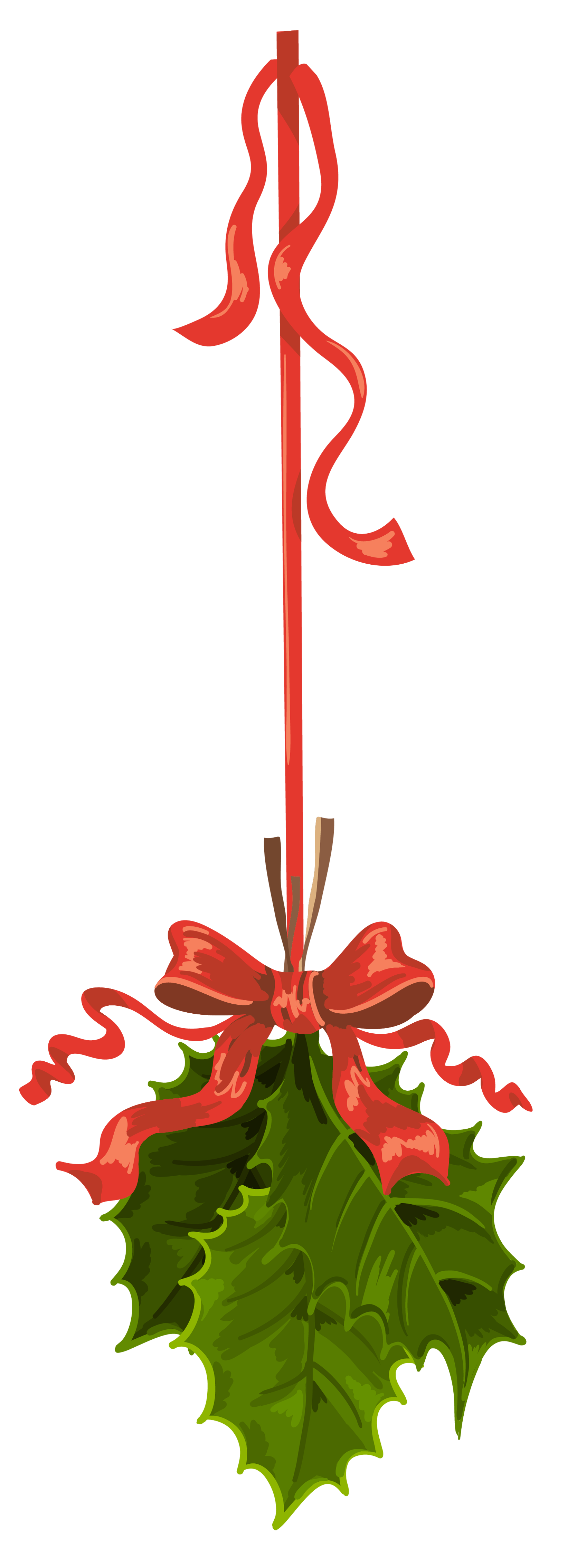 Christmas mistletoe clipart svg free library Transparent Christmas Hanging Mistletoe PNG Clipart | Gallery ... svg free library
