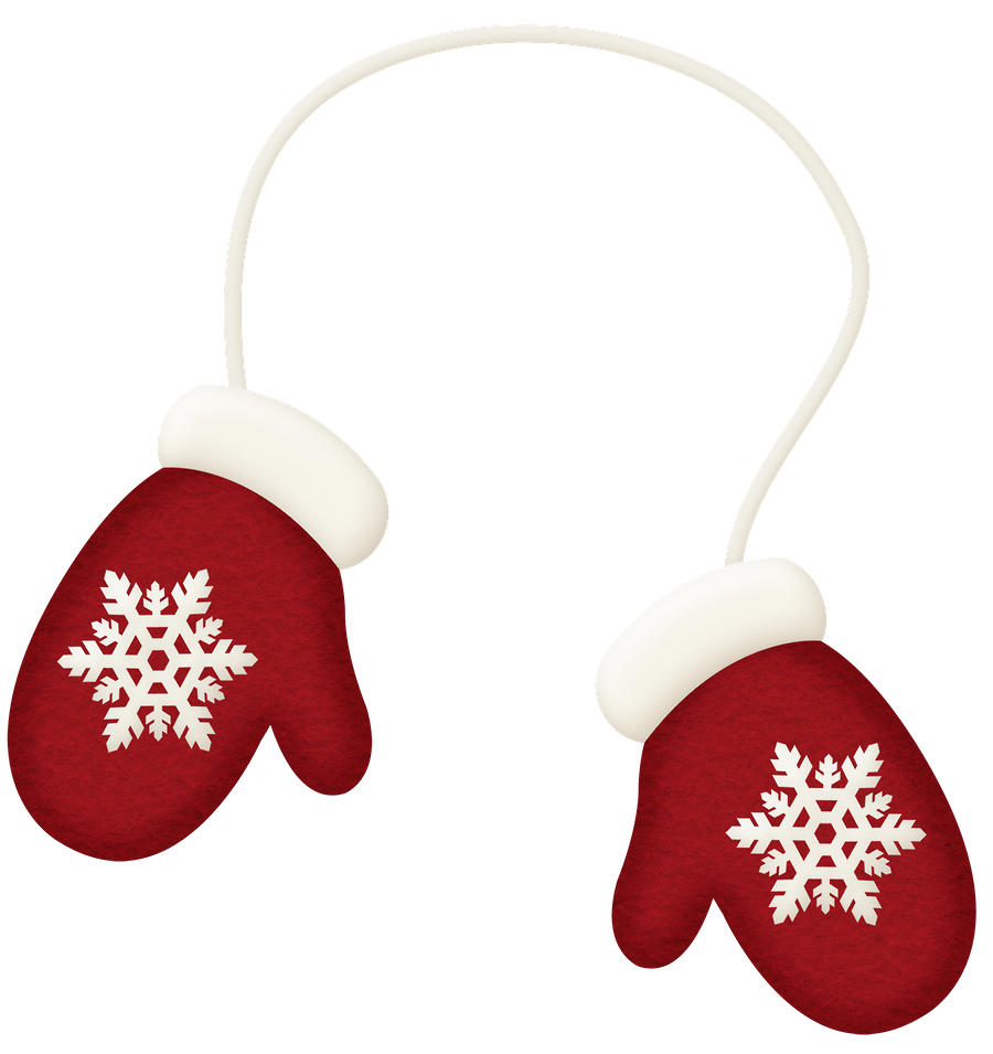 Christmas mittens clipart vector freeuse WINTER RED MITTENS CLIP ART | CLIP ART - CLOTHES - CLIPART ... vector freeuse
