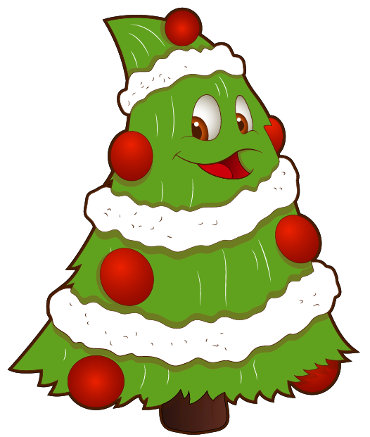 Christmas tree scene clipart clip transparent library Transparent Funny Small Christmas Tree PNG Clipart | Christmas trees ... clip transparent library