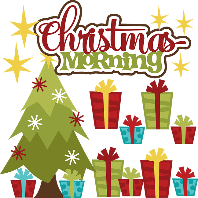 Christmas morning clipart svg black and white Christmas Morning Clipart svg black and white